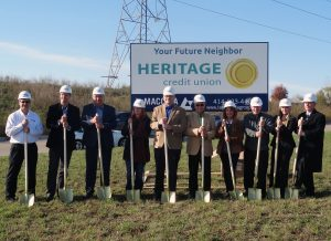 photo of Heritage Credit Union ground breaking ceremony